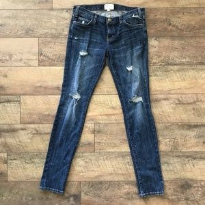 Current/Elliott Distressed The Skinny Loved Jeans